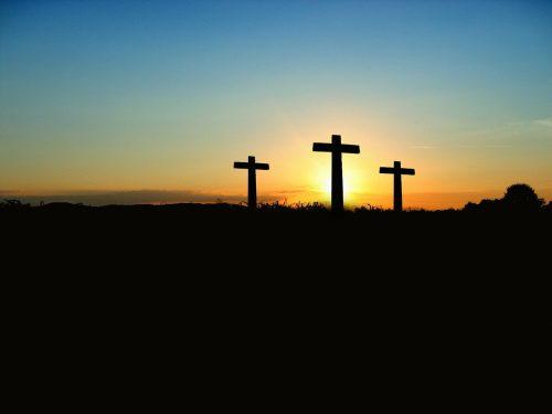 cross, sunset, sunrise
